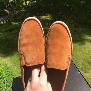 Frye Brea NUTMEG tan/brown slip on suede sneaker